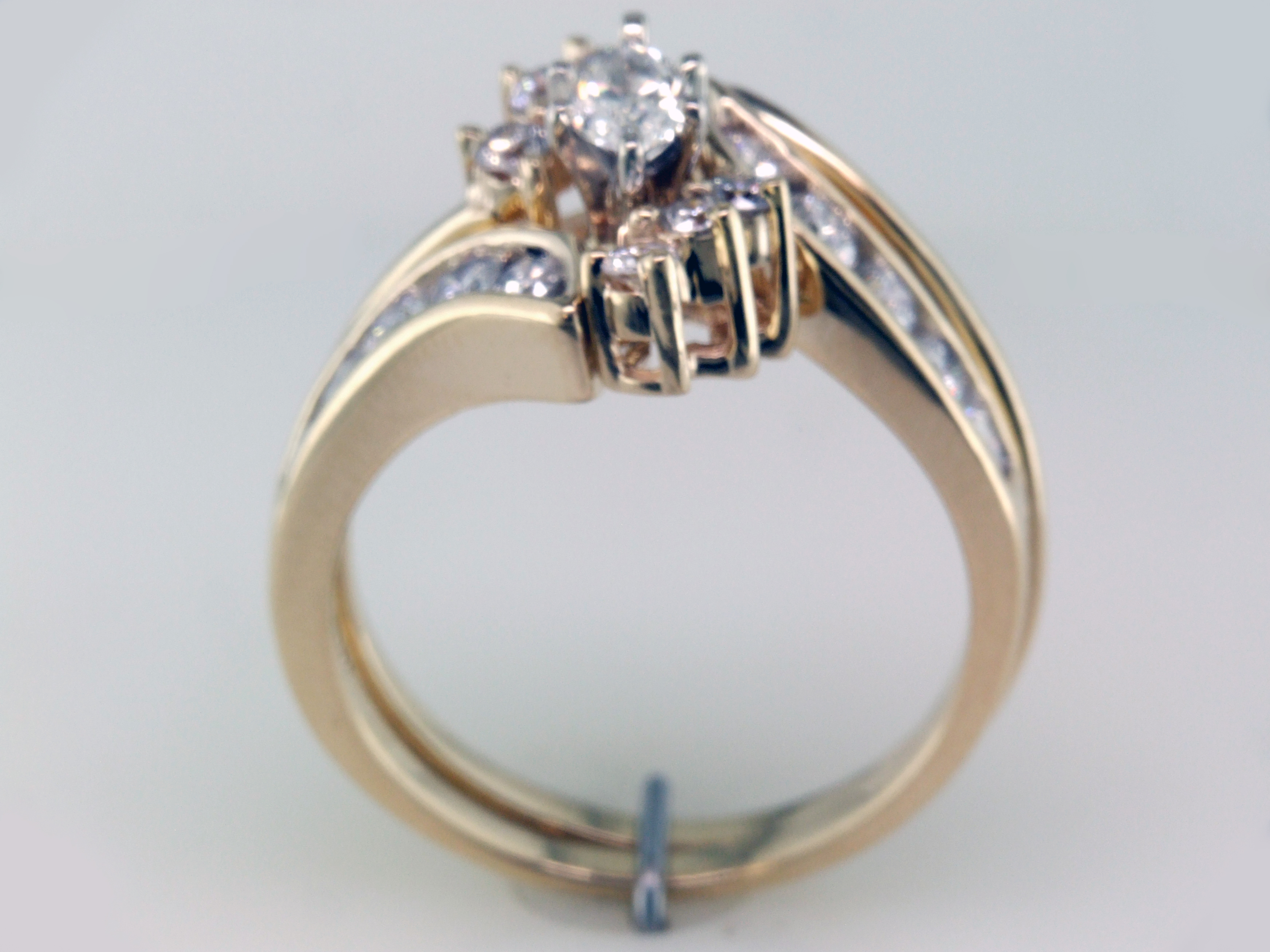 Zales 1 05ct Diamond 14k Gold Bridal Wedding Engagement Ring Set